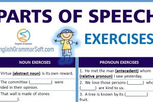 parts of speech exercises