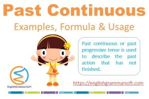 Past continuous tense examples