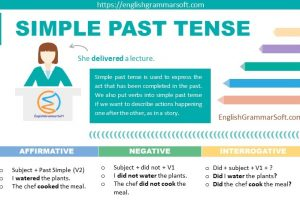 Simple past tense with examples