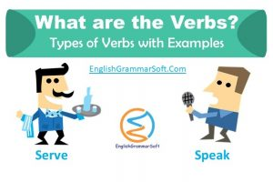 what are the verbs in english; types of verbs and examples