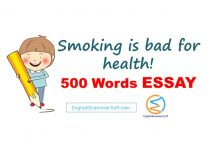 500 Words Essay on Smoking is bad for health