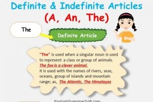 A, An, The Articles