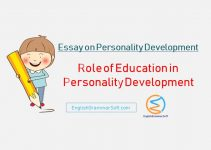 essay on personality development