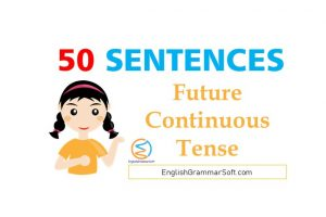 future continuous tense sentences