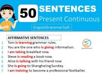 present continuous examples