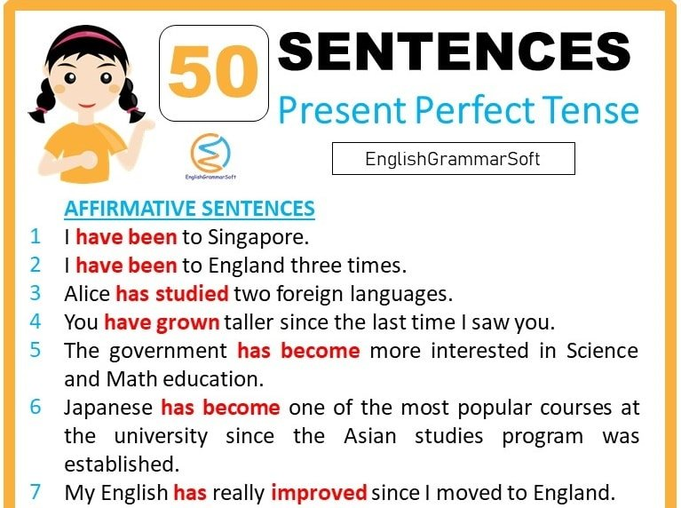 present perfect tense examples