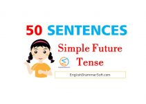 simple future tense sentences