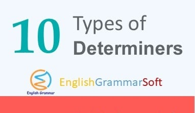 types of determiners in english