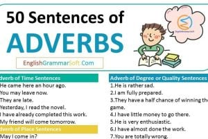 Adverbs Sentences
