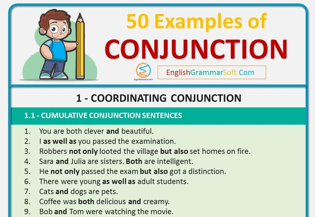 50 Sentences of Conjunction