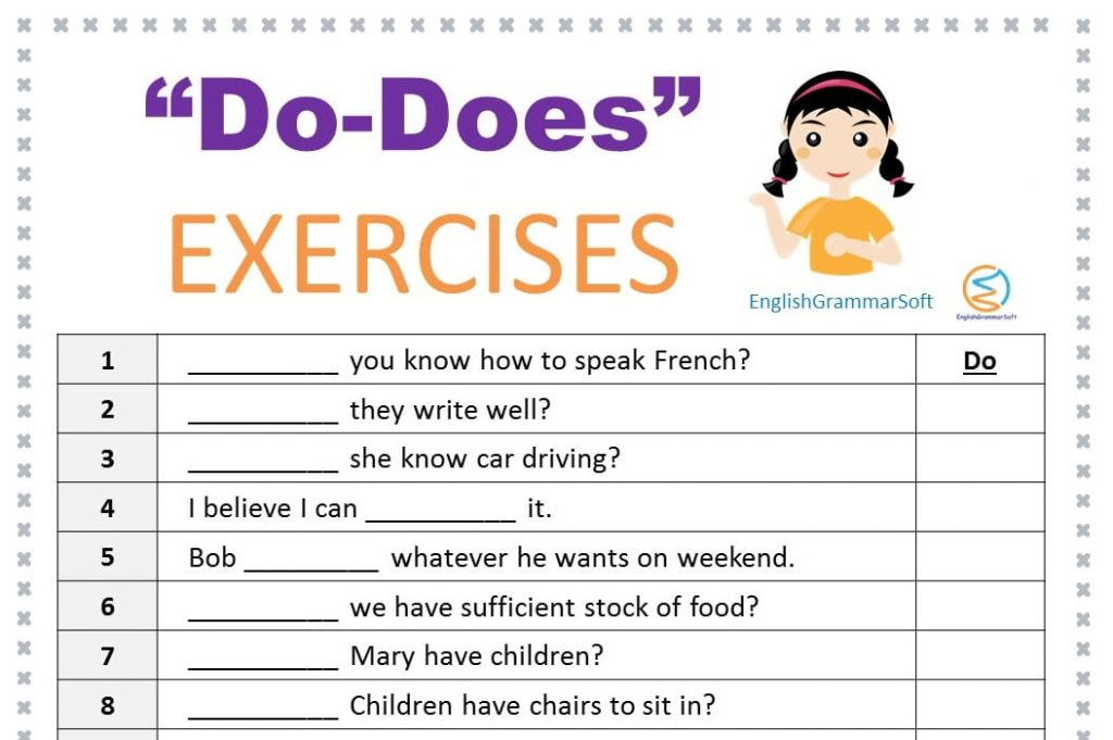 do does exercises with answers