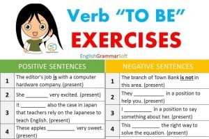 Verb TO BE Positive Negative and Questions Exercises