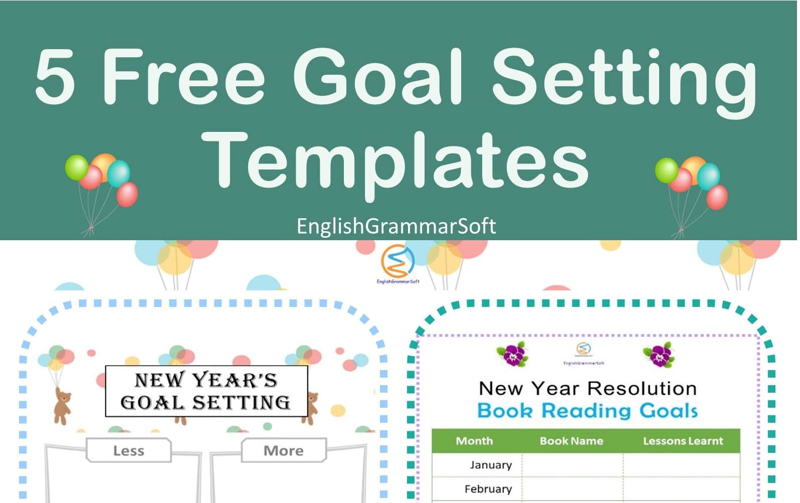New Year Goal Setting Templates
