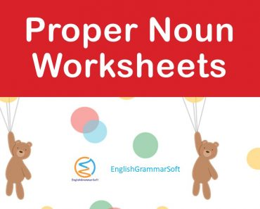 proper noun worksheets