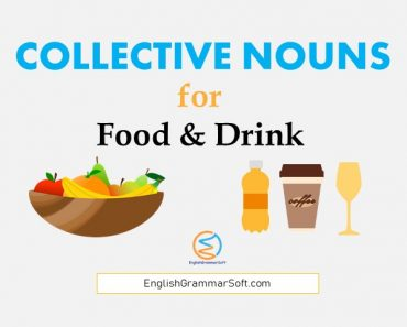 Collective Nouns for Food and Drink