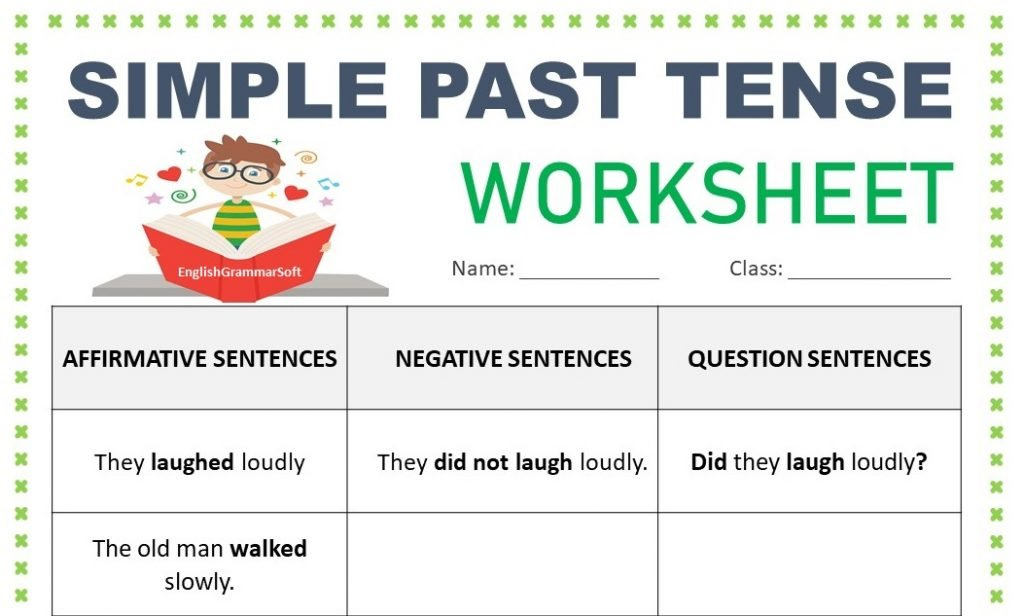 Printable Worksheets For Simple Past Tense - EnglishGrammarSoft