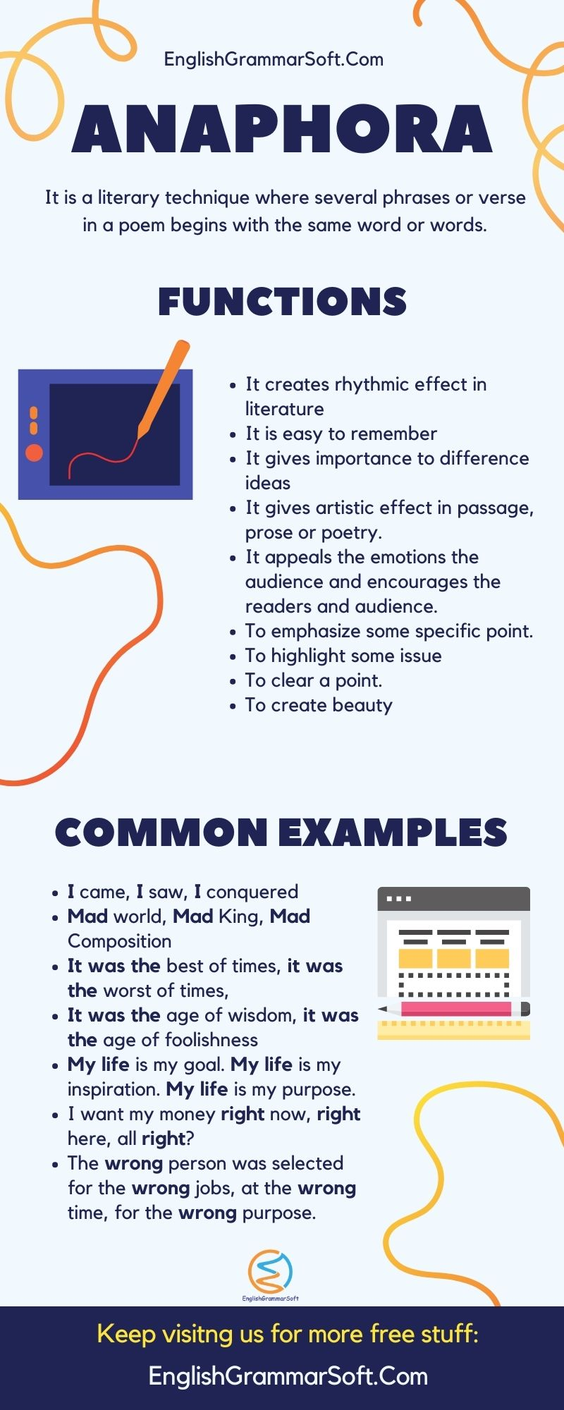 Anaphora Examples, Functions & Use in Poetry