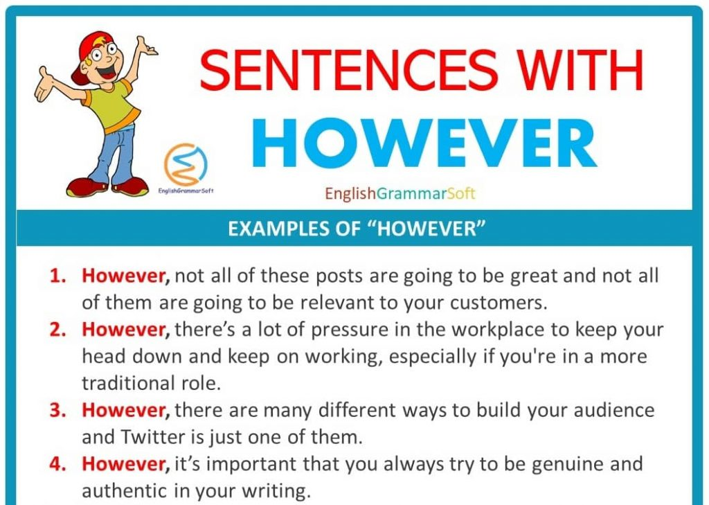 Sentences with However (50 Examples)