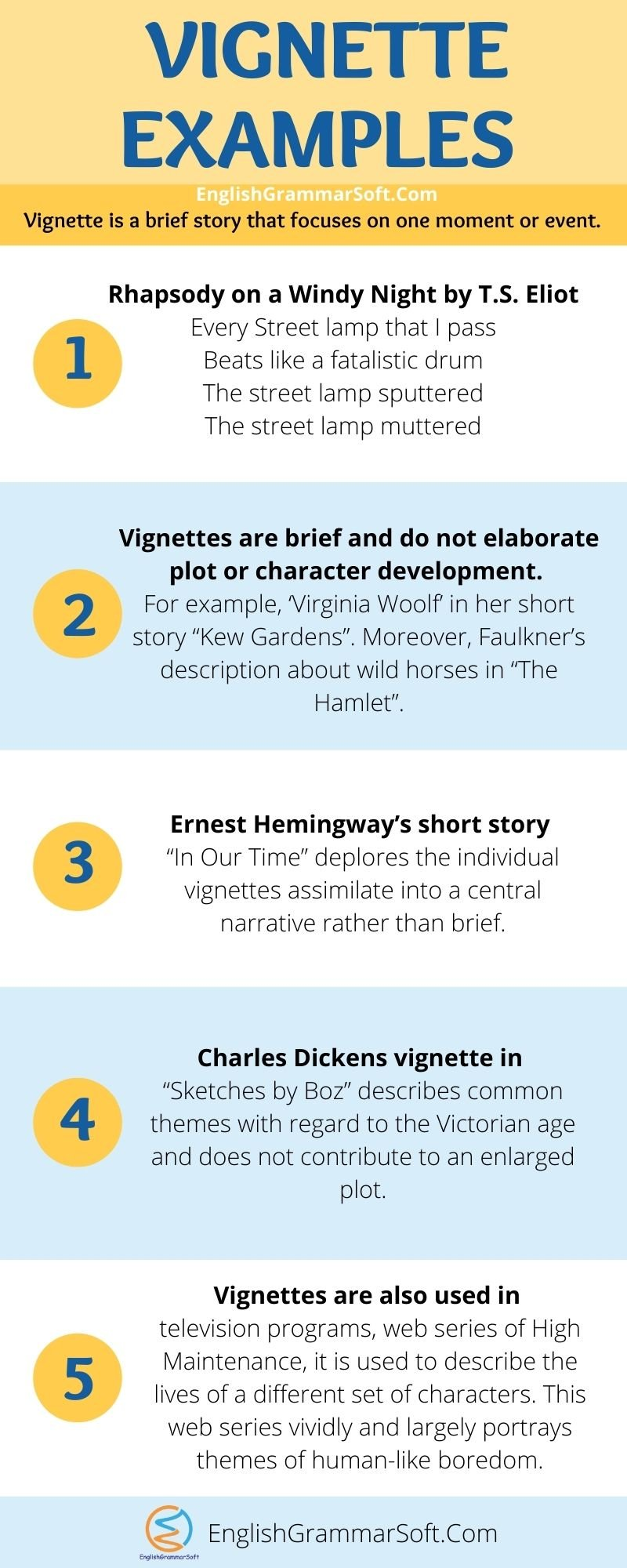Vignette Examples (Literary Devices)