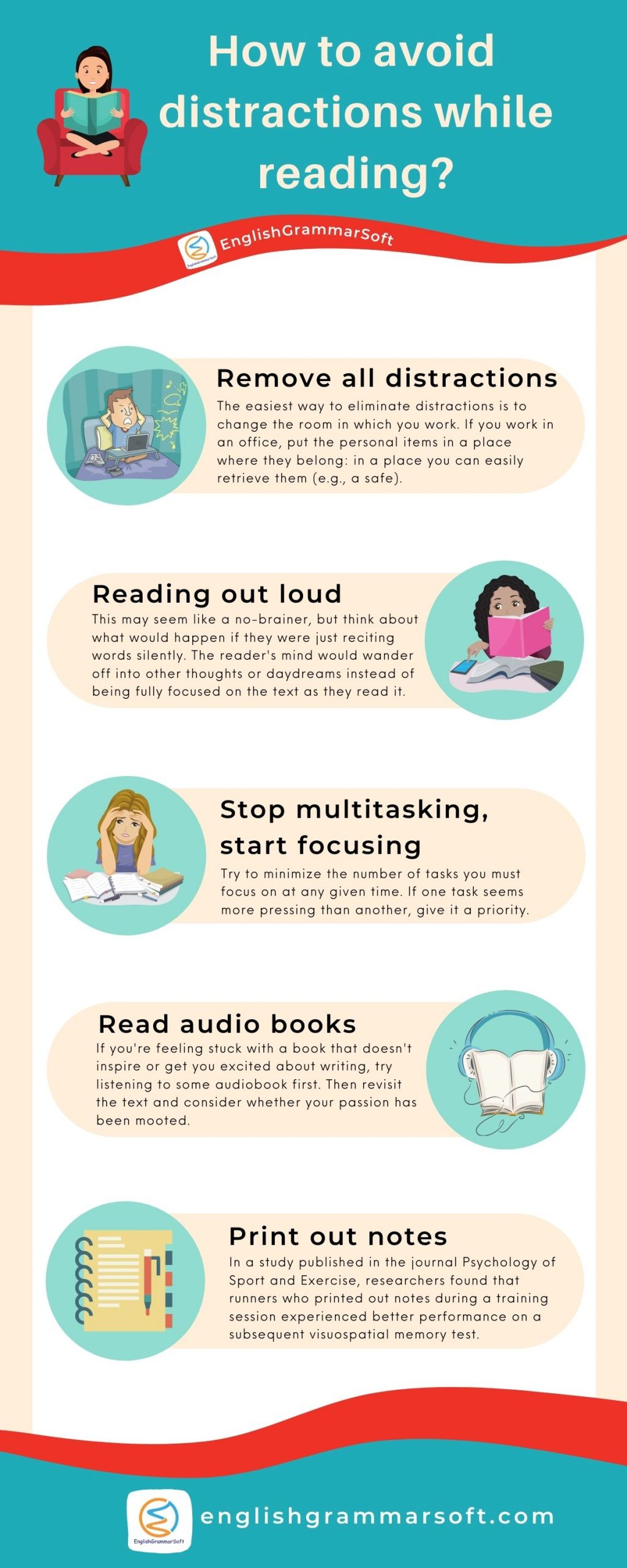 how to avoid distractions while reading