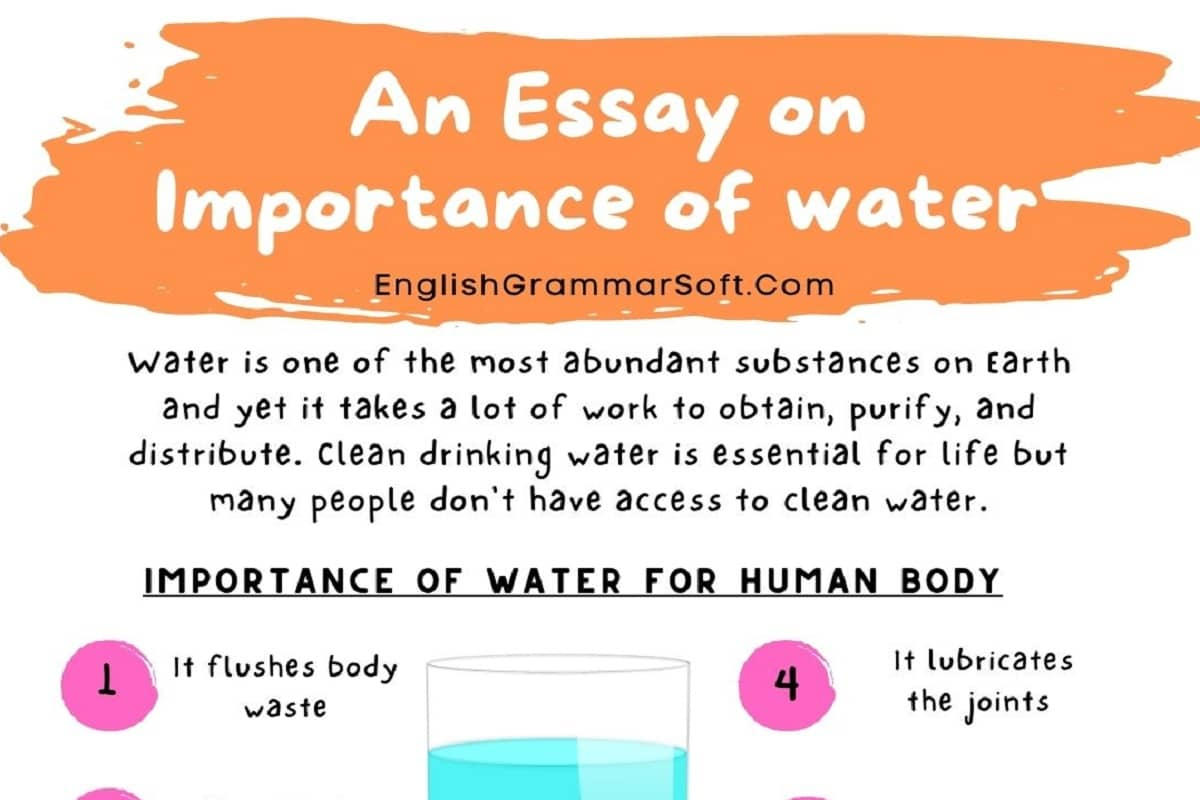 An Essay on Importance of water