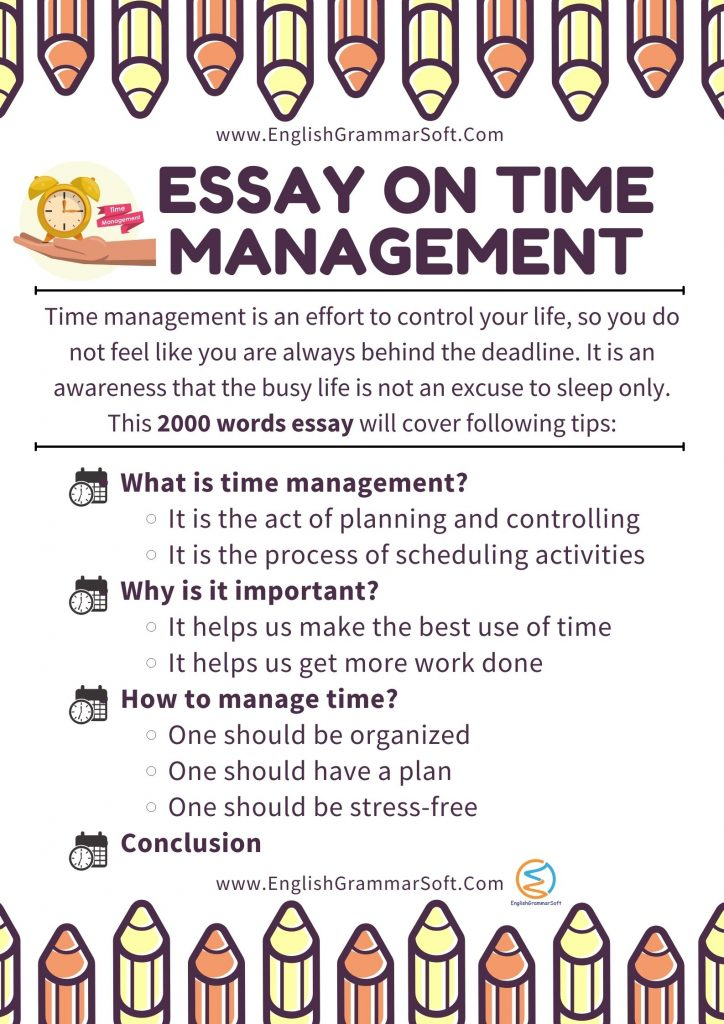 Essay on Time Management 2000 words