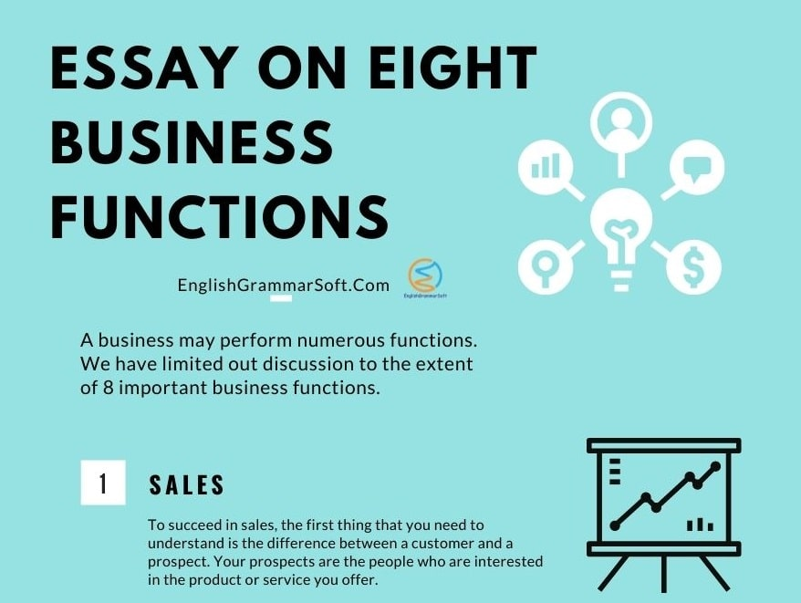 Essay on 8 business functions