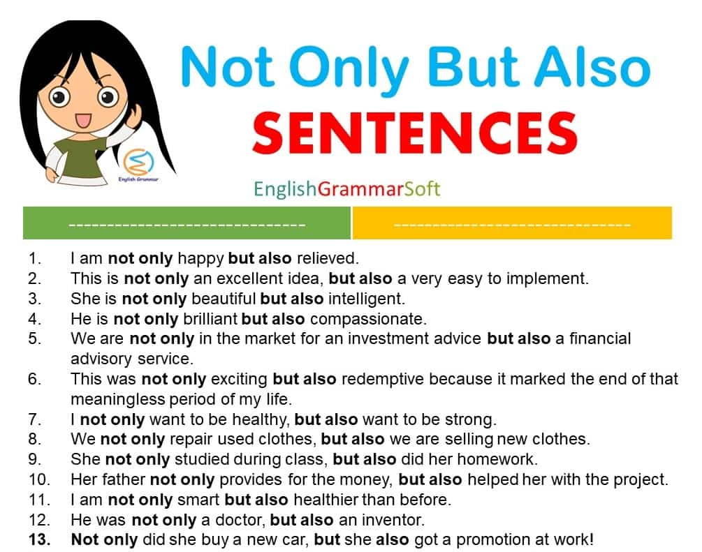 Not Only But Also Sentences