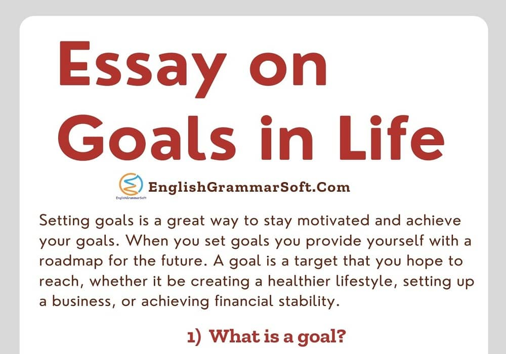 Essay on Goals in Life