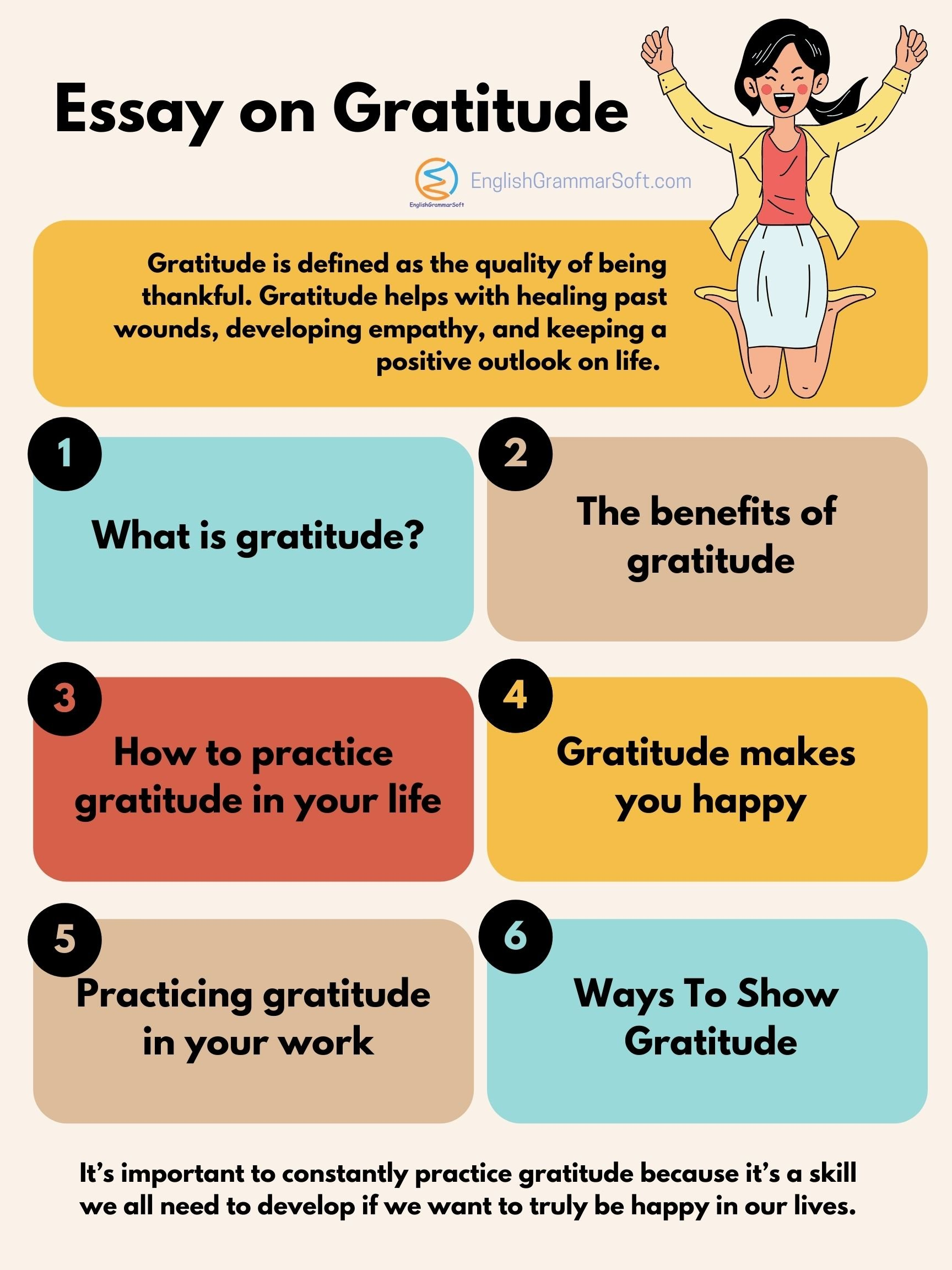 Essay on Gratitude (it bring happiness in life)
