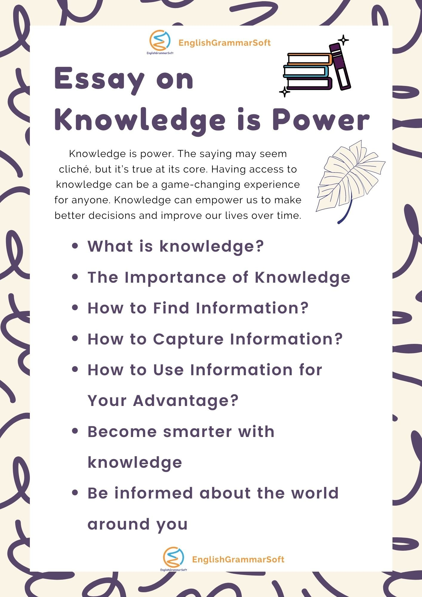 Essay on Knowledge is Power