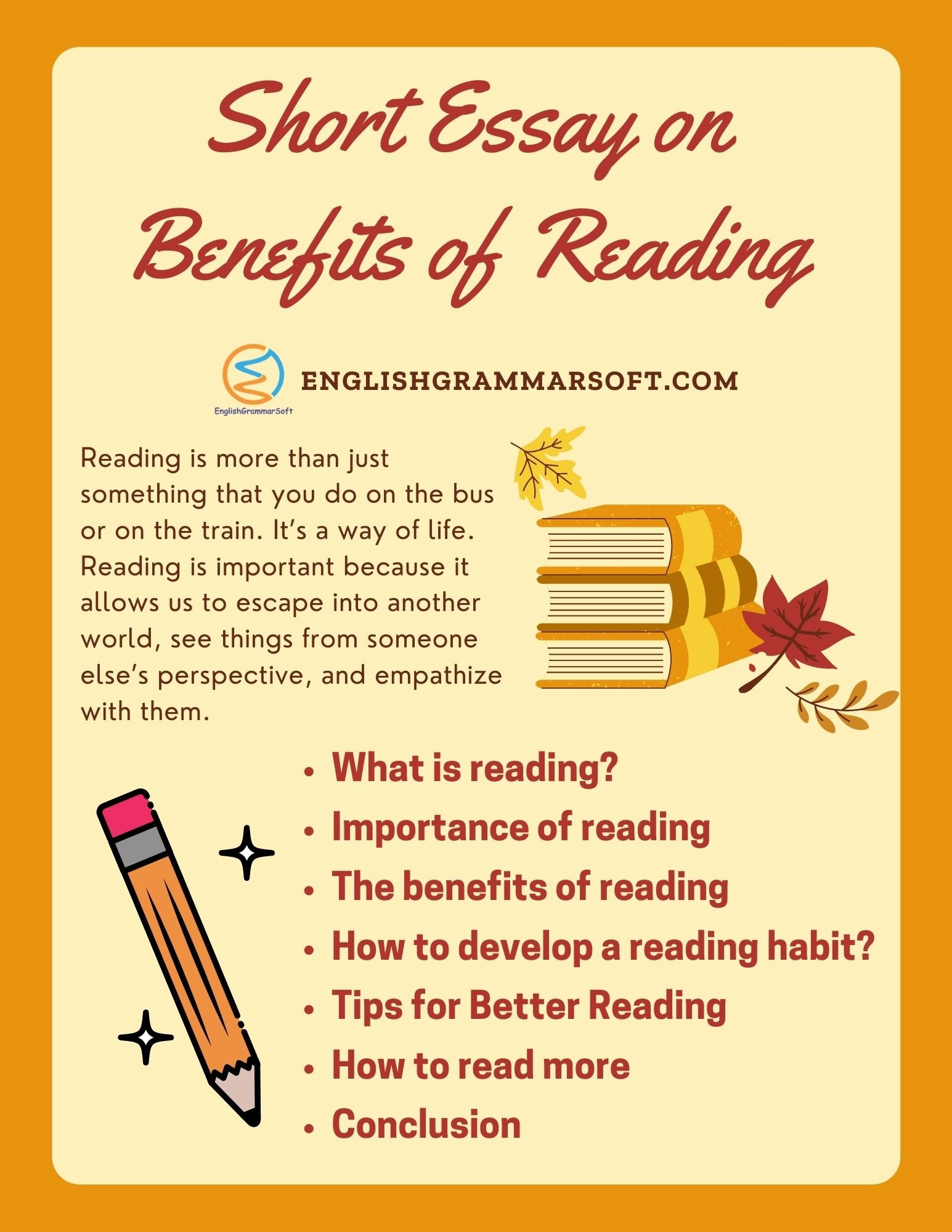 Short Essay on Benefits of Reading